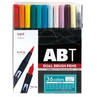#トンボ鉛筆 水性マーカーセット ABT多色セット36色ベーシック 0.8mm