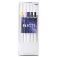 #三菱鉛筆 水性サインペン EMOTT5色